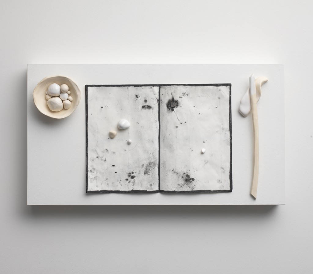 _EveilOnirique_Installation_M01_2013_AlexandraLoewe_122x60x100cm_CeramiqueDessin_VueDessus