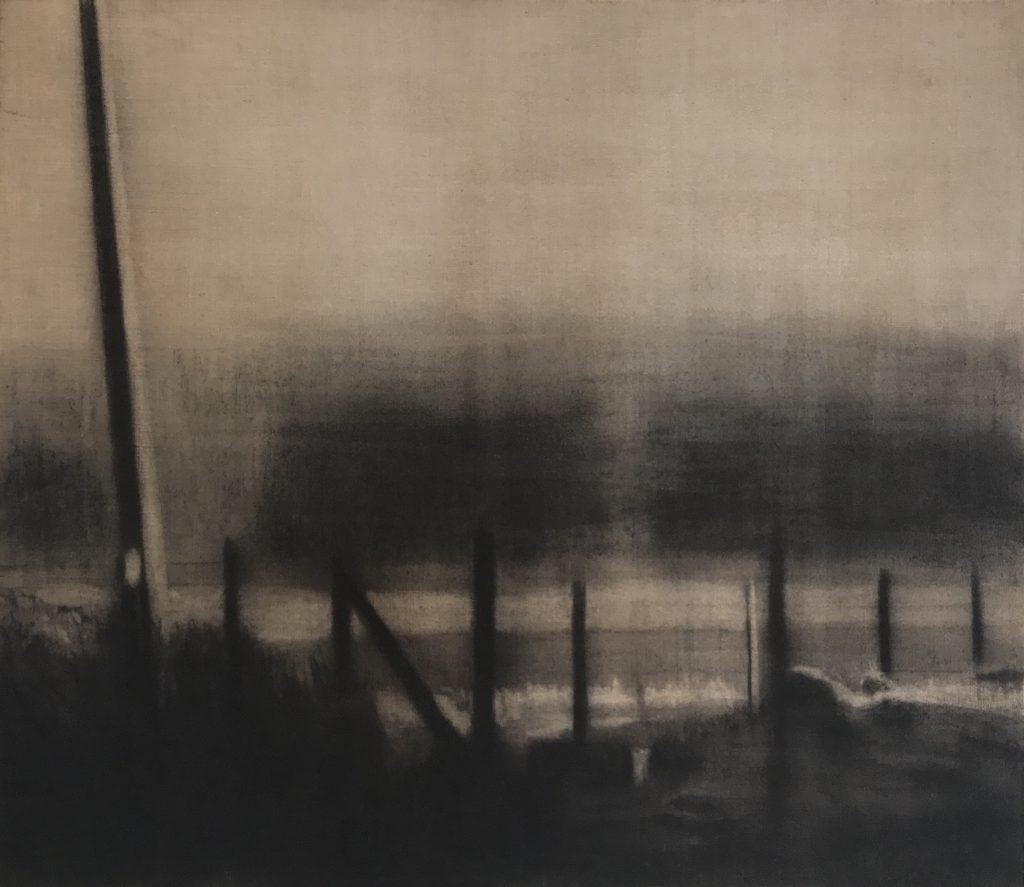 Carbón sobre yute_115x100cms-Serie Brumas