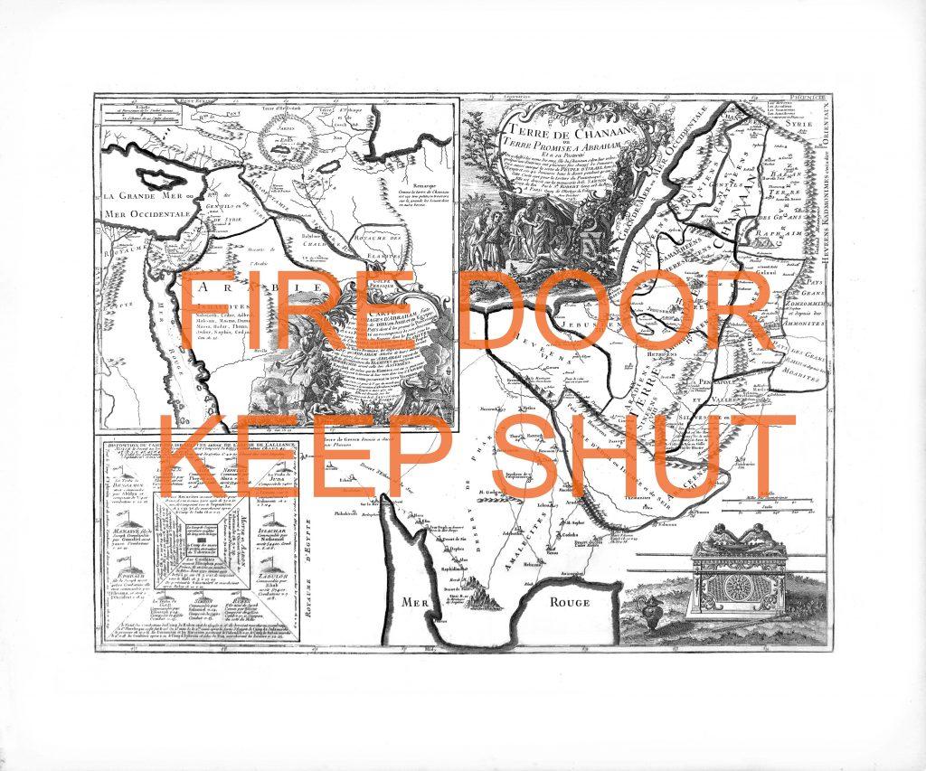 Fire door keep shut, lithographie, 50x60cm, 2019