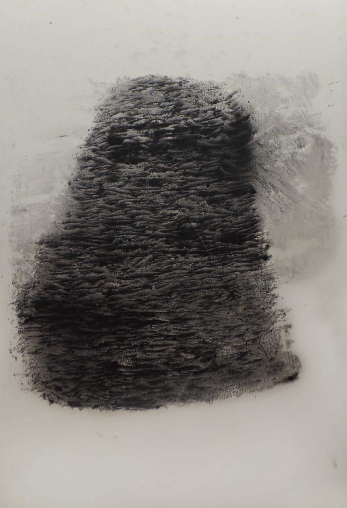 GO WITH THE FLOW I, gouache sur papier japon marouflé sur toile, environ 237 x 160 cm, 2017.JPG