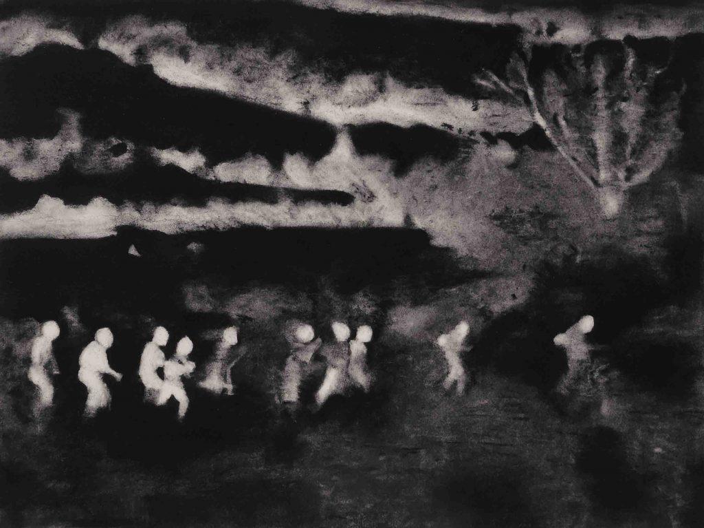 Lucioles 1, Pastel sur papier Arches, 50 x 65 cm, 2016