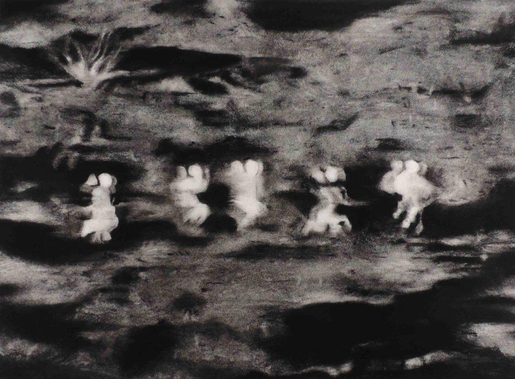 Lucioles 2, Pastel sur papier Arches, 50 x 65 cm, 2016